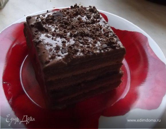 Парижский бисквит с шоколадным кремом