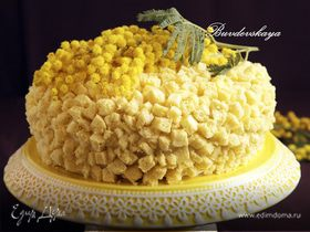 """Торт """"Мимоза"""" с ананасами"""