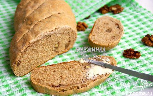 Рецепт Ароматный хлебец на кефире с грецкими орехами