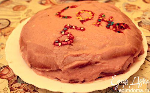 Рецепт Шоколадный торт с ягодами