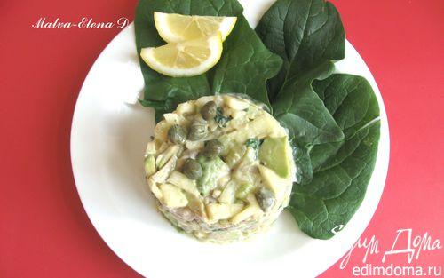 Рецепт Салат с яблоком, сельдью и авокадо