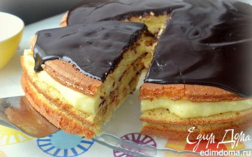 Рецепт Бостонский пирог с ванильным заварным кремом
