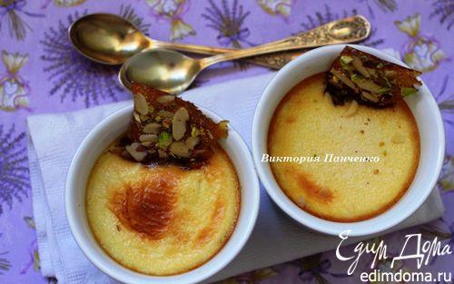 Рецепт Ванильный крем с грильяжем
