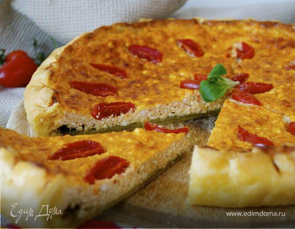 Закусочной пирог с рикоттой и соусом песто (Torta di ricotta e pesto)