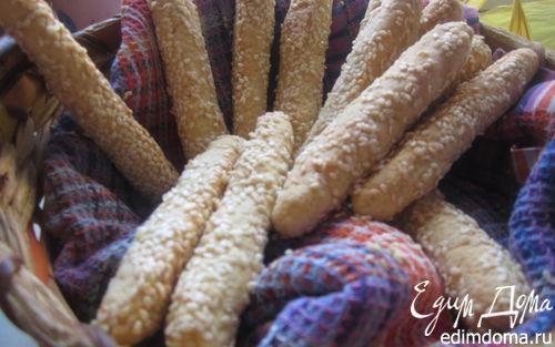 Рецепт Сырные палочки в кунжуте