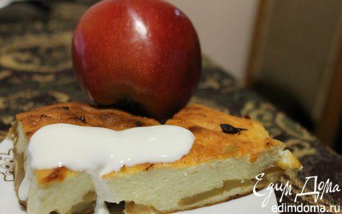 Рецепт Творожная запеканка с яблоками и корицей