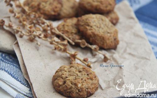 Рецепт Овсяное печенье с миндалем (постное)