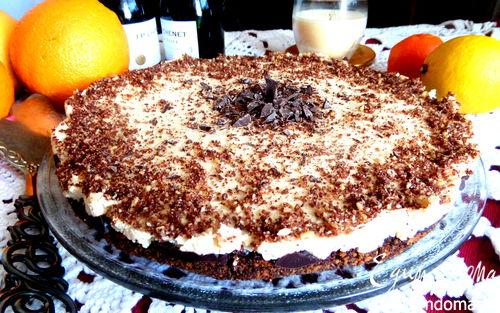 Рецепт Чизкейк с шоколадом и домашним маскарпоне
