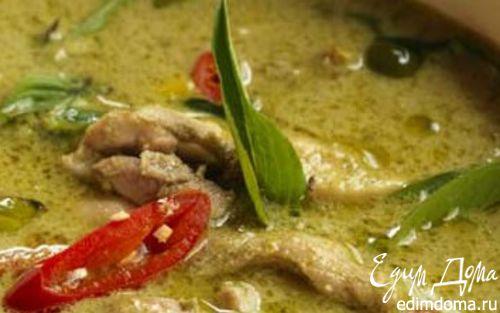 Рецепт Курица в тайскoм зеленом карри