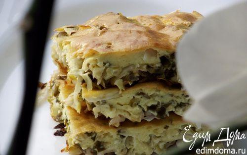 Рецепт Пирог с молодой капустой и зеленью