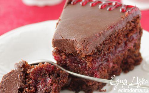 Рецепт Шоколадно-брусничный торт