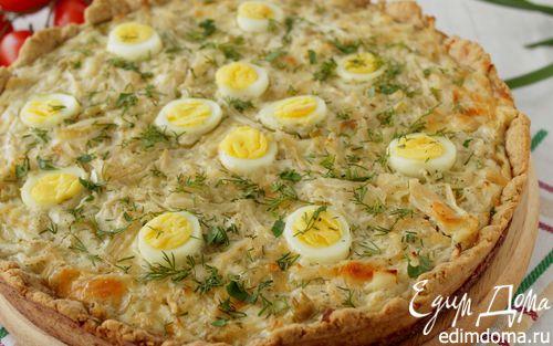 Рецепт Тарт с капустой и перепелиными яйцами