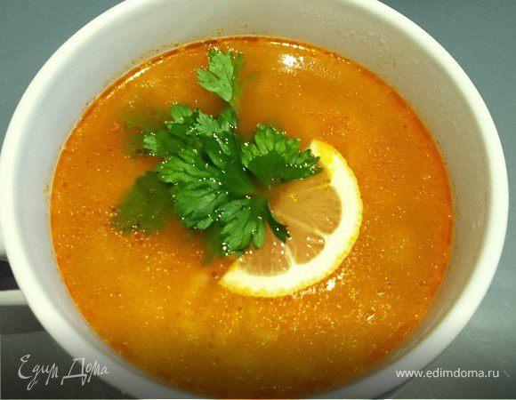 Рисовый суп с луком-пореем и сельдереем