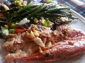 Теплый морской овощной салат