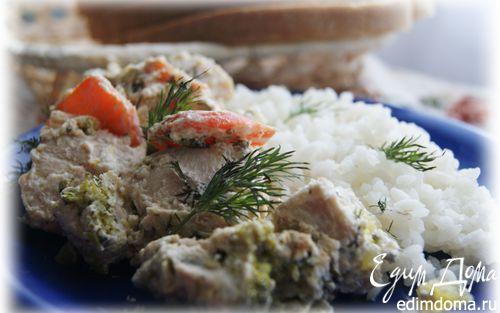 Рецепт Бланкет из курицы с овощами в мультиварке