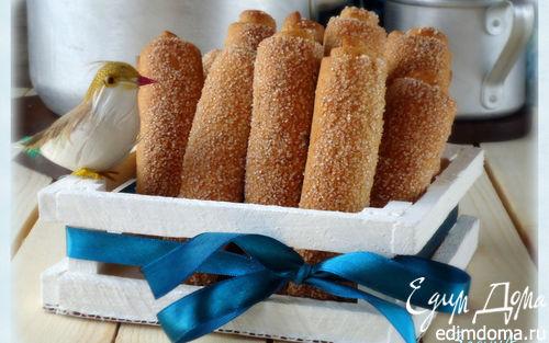 Рецепт Трубочки песочно-дрожжевые из цельнозерновой муки