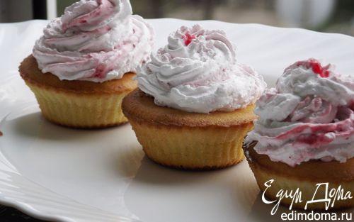 Рецепт Лимонные капкейки со сливочно-малиновым кремом