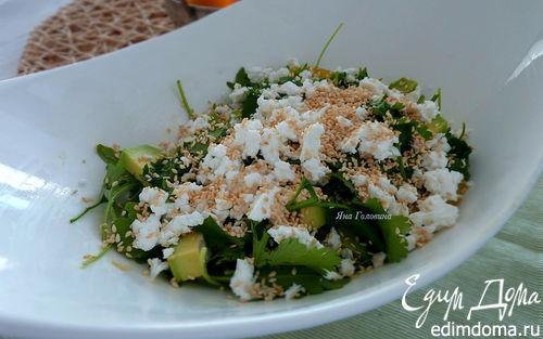 Рецепт Салат с апельсинами, авокадо и сыром фета
