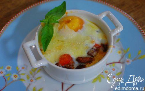 Рецепт Яйца по-мексикански, запеченные с фасолью