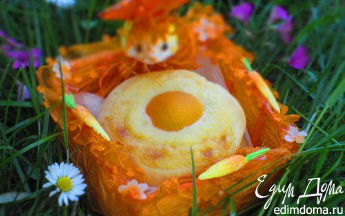 Рецепт Пасхальные творожные булочки с заварным кремом и абрикосами