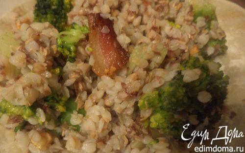 Рецепт Гречневая каша с брокколи, морковью и сельдереем