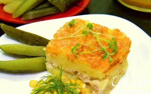Рецепт Запеканка Пармантье с курицей