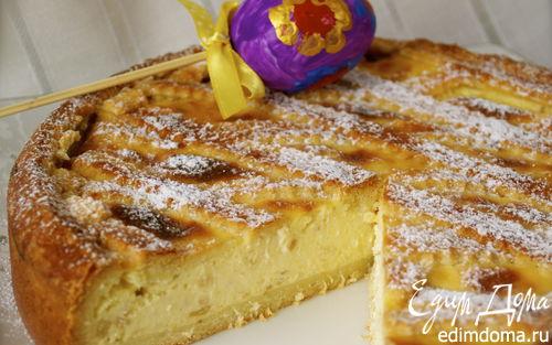 Рецепт – Итальянский пасхальный пирог с миндалем и заварным кремом (Pastiera)