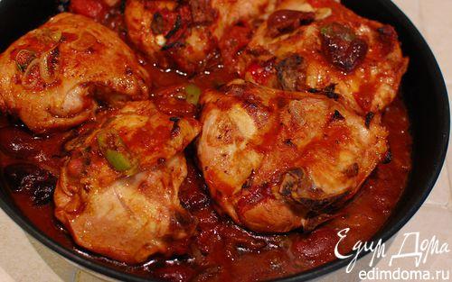 Рецепт Курица в томатно-оливковом соусе