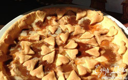 Рецепт Тарт из творожного теста с карамельками
