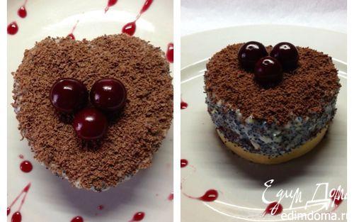 """Рецепт Пирожные """"Шоколадно-маковое удовольствие"""""""