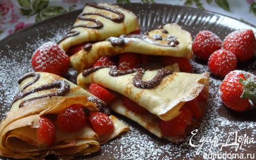 Рецепт Кружевные блинчики (Les crêpes dentelles)
