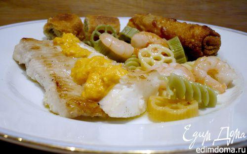 Рецепт Филе палтуса с соусом из моркови и кориандра