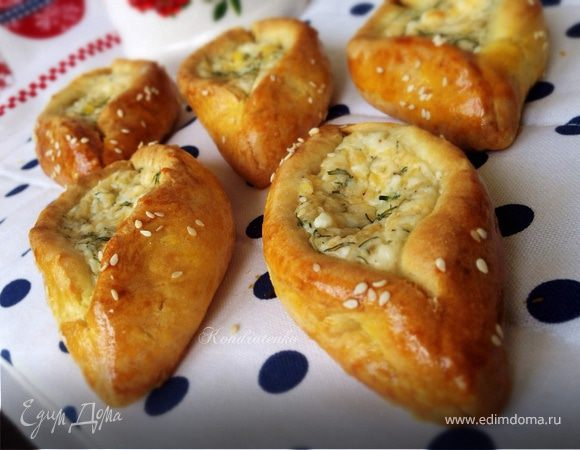 """Пирожки с сыром и зеленью """"Лодочки"""""""
