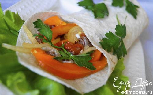 Рецепт Фахитос по-мексикански с говядиной