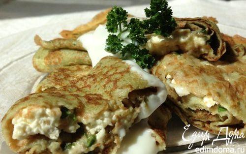Рецепт Ржаные блинчики на сыворотке со щавелем и петрушкой