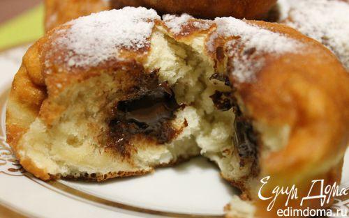Рецепт Пончики с шоколадом для Натали М
