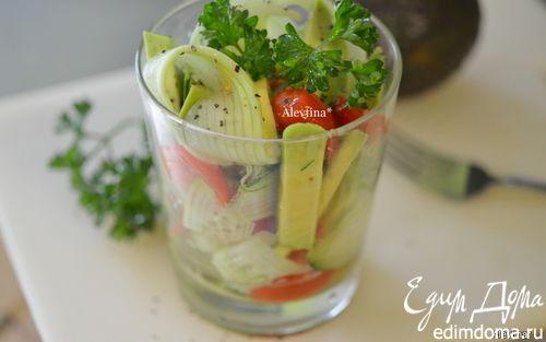 Рецепт Диетический салат с авокадо