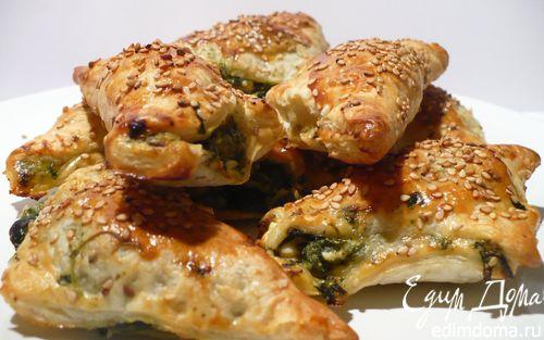 Рецепт Закусочные слойки с фетой и шпинатом
