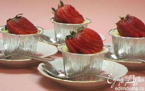 Рецепт Творожники с клубникой в пароварке
