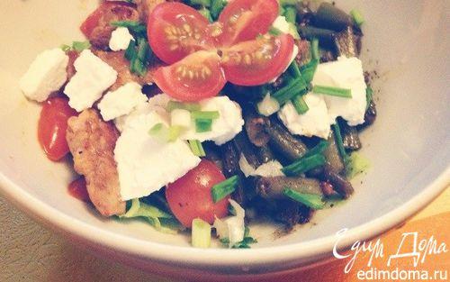 Рецепт Теплый салат с говядиной и стручковой фасолью