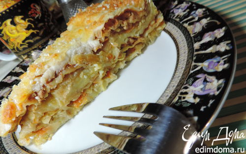 Рецепт Многослойный пирог-лазанья на лаваше
