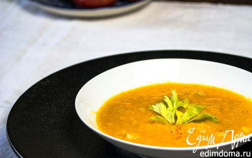 Рецепт Тыквенный суп с сельдереем и апельсином