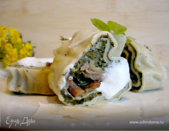 Итальянские манты (Rotolo di spinaci)