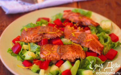 Рецепт Салат с семгой и сладким перцем