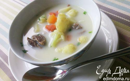 Рецепт Сырный суп с цветной капустой