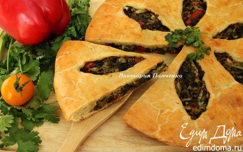 Рецепт Пирог с огородной зеленью