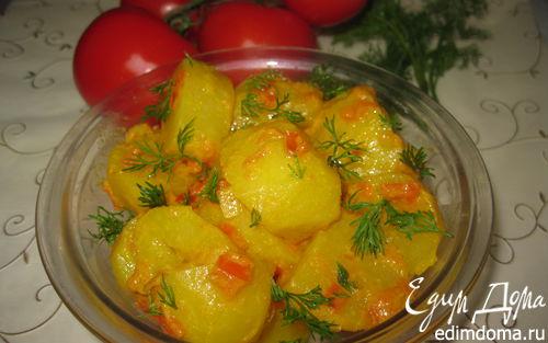 Рецепт Картошка по-бомбейски с томатами