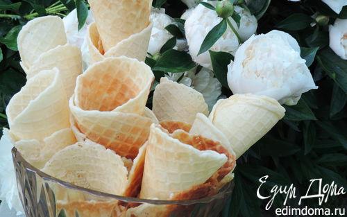 Рецепт Вафли для мороженого в вафельнице