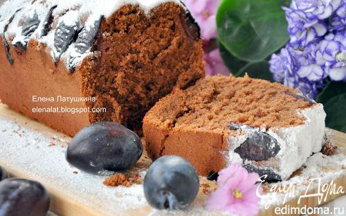 Рецепт Шоколадно-миндальный кекс со сливами