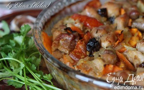 Рецепт Свинина, запеченная с овощами и черносливом